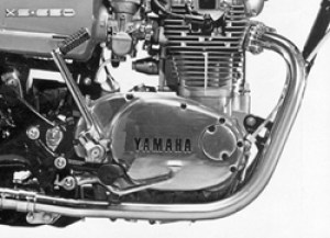 Yamaha XS650 Engine at Heiden Tuning in the Netherlands