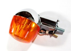 Turn Signal Lamp with Amber Lens - Rear -