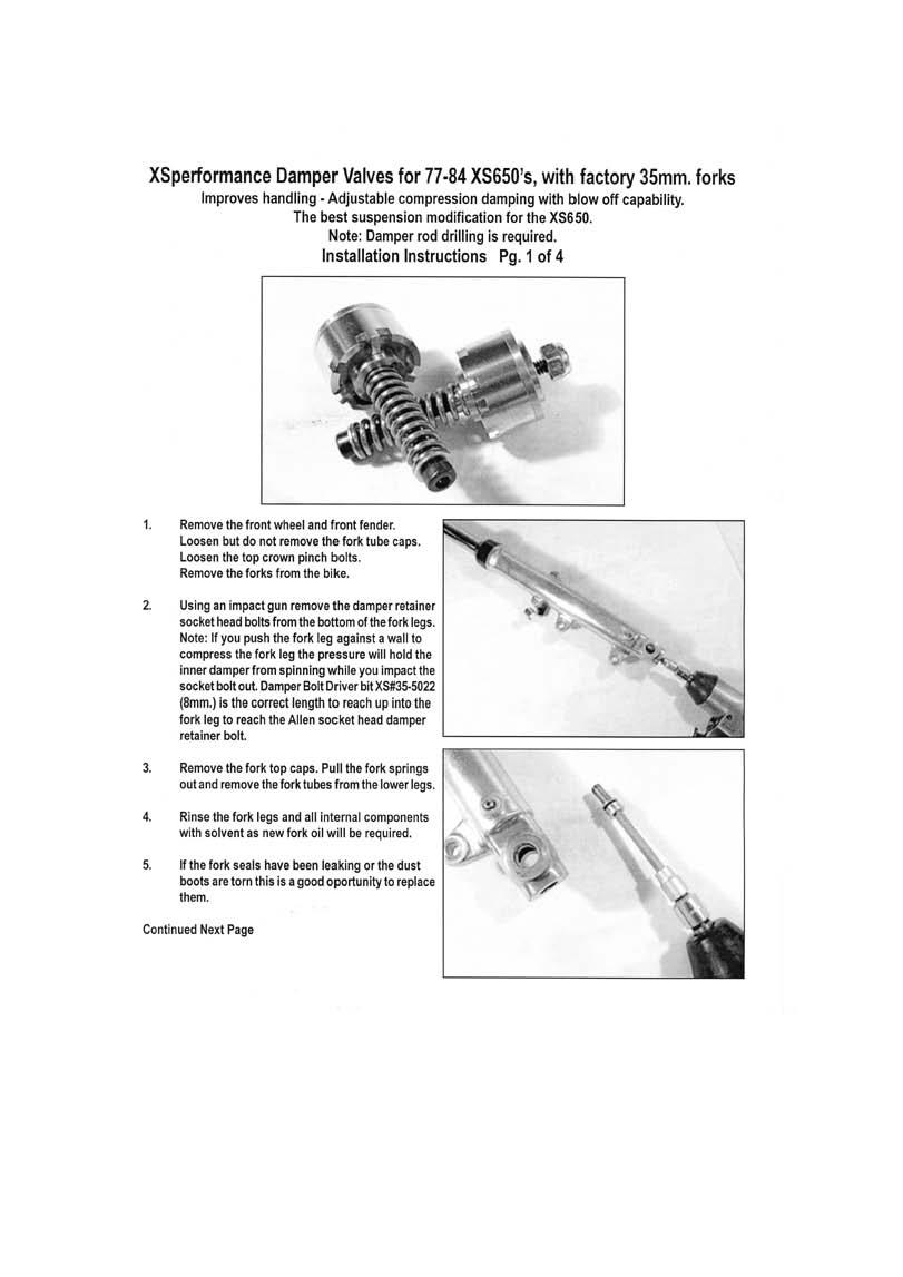 fork seals  springs   front fork damper valve set