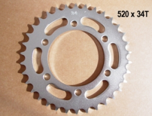 34 Tooth x 520 Rear Sprocket