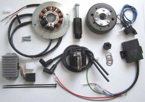 12 v POWERDYNAMO alternator system with integrated solid state ignition (1,5kg rotor)